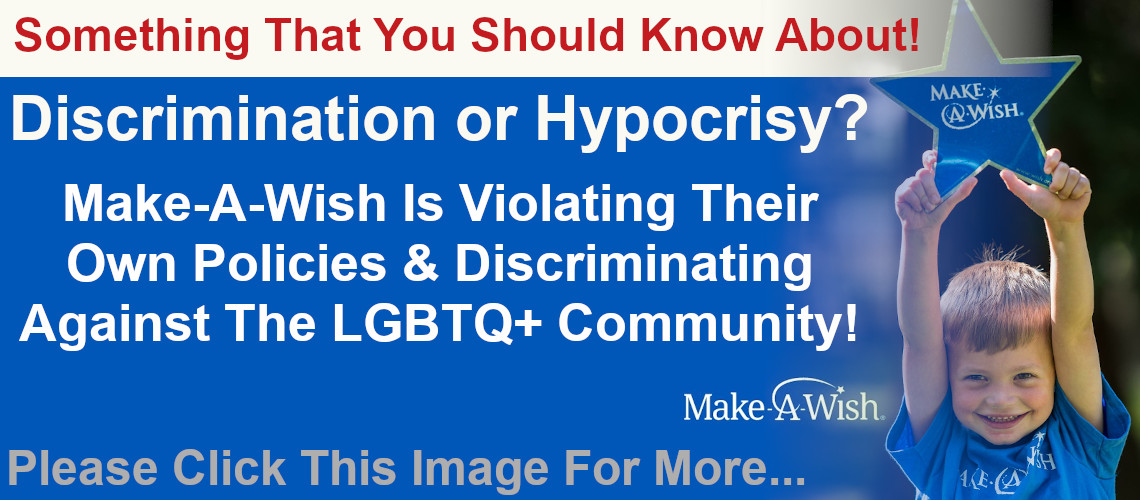 A question for the Make-A-Wish Foundation about discrimination.
